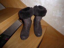 Paul Green Damen Stiefel Gr.5 / 38 Braun Leder innen mit Fell guter Zustand