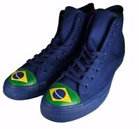 Converse Chuck Taylor All Star Flag Toe Brazil Brasil Hi High Top Sneaker BLUE