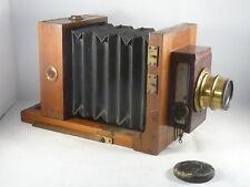 Holzplatten-Kamera mit Vorhangverschluss und Doppel-Anastigmat F=240 mm