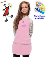 Personalized Kids Apron with Baton Twirler Embroidery Design