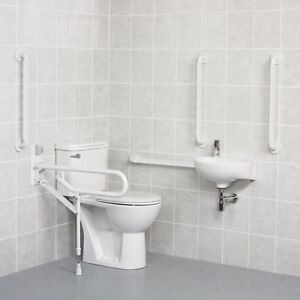 DOC M Pack Disabled Bathroom Set Close Coupled or Low Level White or Blue AKW