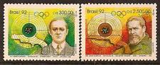 BRAZIL 1992 SPOER OLYMPIC SC # 2349-2350 MNH