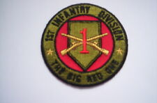 Ricamate/Patch della 1st Infantry Division the Big Red One ca 7,5 cm