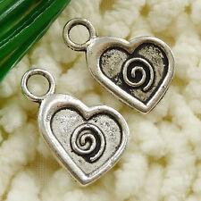 free ship 70 pieces tibetan silver heart charms 21x14mm #2623