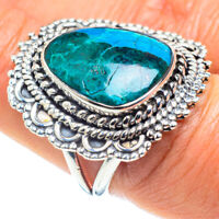 Chrysocolla 925 Sterling Silver Ring Size 8.25 Ana Co Jewelry R58561F