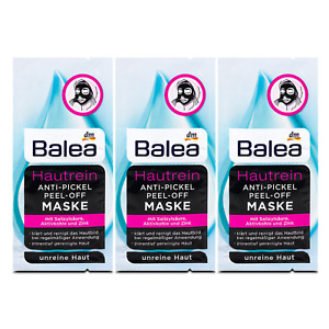Black Peel-Off Face Mask 48g Cleansing Blackheads Activated Charcoal x 6 Sachets