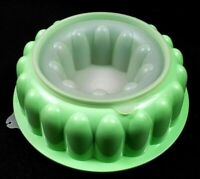 Tupperware NEW USA VINTAGE 3 pc Mint Green Jello Mold COMPLETE SET