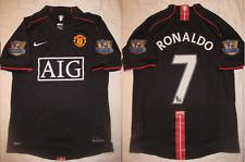 manchester united 2007 2008 shirt jersey PREMIER league away black ronaldo