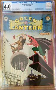 Green Lantern comic #37 CGC 4.0 1949 Golden Age DC Comics The Trapper