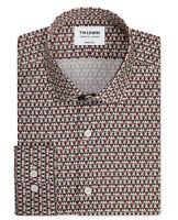 T.M.Lewin Mens Premium Liberty Fabric Grenada Print Red Single Cuff Shirt