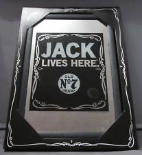 Mirror Jack Daniels Whiskey Jack Lives Here pub/bar, mancave, home decoration