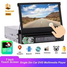 Touch Screen Bluetooth Flip-Out Car Stereo Single din DVD Player FM AM Radio