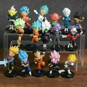 16 pcs/set Dragon Ball Z Action Figures Super Saiyan Son Goku Vegeta Toy Gift