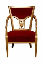 Statesville Chair Company Royal Throne Chair in Red & Gold