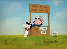 Peanuts-Legal Beagle vs. Judge Lucy Limited Edition Cel Set Signed by Melendez