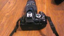 Nikon D D5200 24.1Mp Digital Slr Camera - Black with wide angle lens.