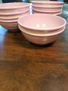 NWT Pottery Barn Kids Cereal Bowl Melamine Plastic Cambria Bowl Pink Lot of 10