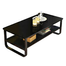 Coffee Table Rectangular Cocktail Table Living Room Furniture w/ Storage Shelf
