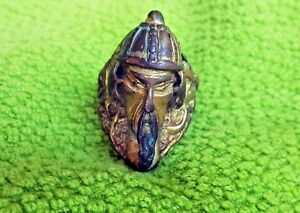 Antique Brass Gold Plated Mongolian Warrior Ring