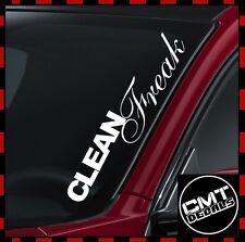 Clean Freak Car / Van Windscreen Decal Sticker JDM euro - 17 Colours 550mm