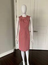 PRADA Pink Silk Blend Stretch Sleeveless Dress 38