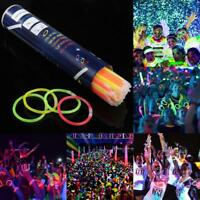 100stk Leuchtstab Light stick Knicklicht Glowstick Party Festival Armband Kette