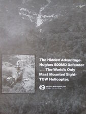 3/1982 PUB HUGHES 500MD DEFENDER MAST MOUNTED SIGHT TOW MISSILE HELICOPTER AD