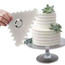 1x Cake Decorating Comb Icing Smoother Cake Scraper Textures Baking Tools DIY