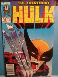 INCREDIBLE HULK #340  WOLVERINE COVER   EXCELLENT COPY ESTIMATE 8.5+