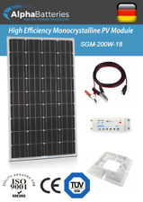 12V 200W Xplorer German Cell Solar Panel Kit | Caravan | Boat | Motorhome