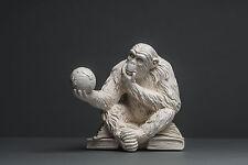 """Affe mit Globus"", Skulptur, kein Gips, Dekoration, Deko, Kunst #002"