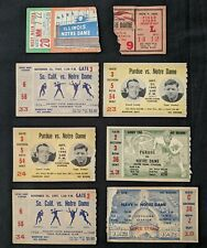 1940s Notre Dame College Football Ticket Stubs (8 tkts)