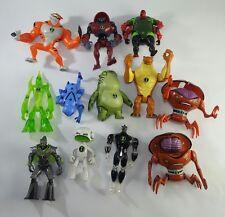 Ben 10 Action Figure Toys Lot of 12 Figures Brainstorm Goop Tiger Upchuck Echo