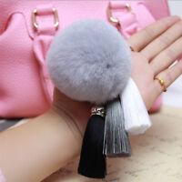 Big Size Soft Genuine Rabbit Fur Ball keychain for Phone Bag Handbag Pendant