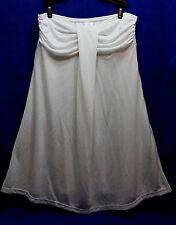 Hula Honey Swim White Draped Strapless Mini Dress Cover Up Sz L Jr i1