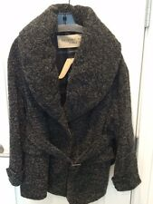 Burberry Brit Coleford Mid Grey Belted Boucle Jacket Size 10 NWT Retail $1195