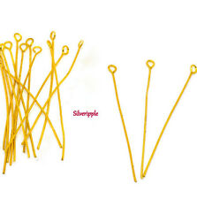40 x 50mm EYE PINS GOLD PLATED