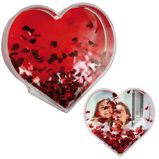 HEART SHAPED MINI FRAME ACRYLIC PHOTO PICTURE GIFT WATER GLOBE HOME DECOR NEW