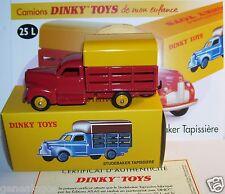 DINKY TOYS ATLAS CAMION TRUCK STUDEBAKER TAPISSIERE 1951 REF 25L IN BOX 1/43