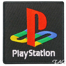 SONY PLAYSTATION  Video Game Logo Embroidered Iron- Sew On Patch UK SELLER
