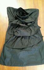 Miss Shop strapless little black dress sz10 preowned free post D37