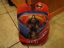 """2013 MATTEL MOVIE MASTERS--SUPERMAN MAN OF STEEL MOVIE--6"""" JOR EL FIGURE (NEW)"""