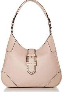 NWT💋Michael Kors Pink Lillian Medium Leather Shoulder Handbag, Pink w/Buckle