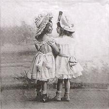 4x Paper Napkins for Decoupage Sagen Vintage Best Friends Forever