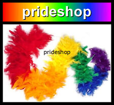 Rainbow Chandelle Faux Feather Boa Mardi Gras Party Parade Lesbian Gay Pride #34