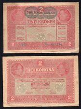 2 Corone- Zwei Kronen Austria 1917  BB/VF  ^