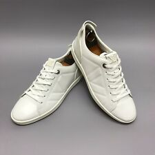 MINT EUC Louis Vuitton sneakers white leather ivory suede 7.5 US 40,5 EUR MS1113