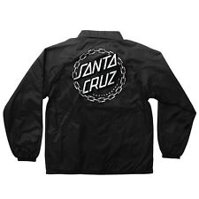 Santa Cruz CHAIN DOT Coach Windbreaker Jacket BLACK XL