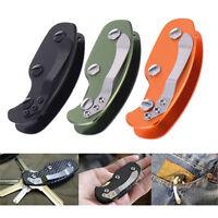 KEYSMART SMART KEY COMPACT AlUMINIUM ORGANIZER FOLD HOLDER POCKET RING 12 KEYS