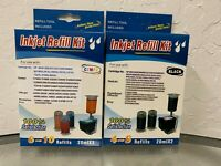 Combo Black & Tri-Color Ink Cartridge Refill Box Kit for HP 62 63 64 65 65XL